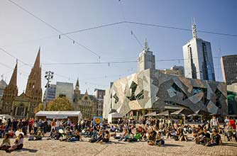 Hop-On/Hop-Off-Bustour Melbourne/Federation Square/1