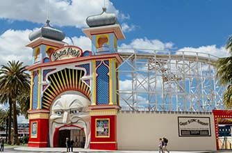 Hop-On/Hop-Off-Bustour Melbourne/Luna Park / Palais Theatre/5