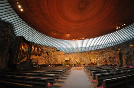 Hop-On/Hop-Off-Bustour Helsinki/Temppeliaukio Church (Rock Church)/13