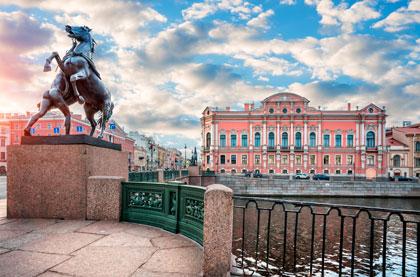 Anichkov Palace & Anichkov Bridge / Аничков Дворец и Аничков Мост